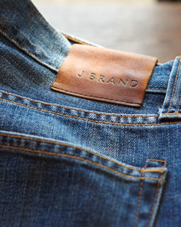 Photo of of J Brand logo on jeans