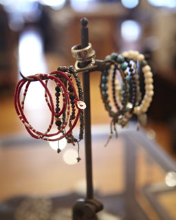 Photo of bracelets on store rack